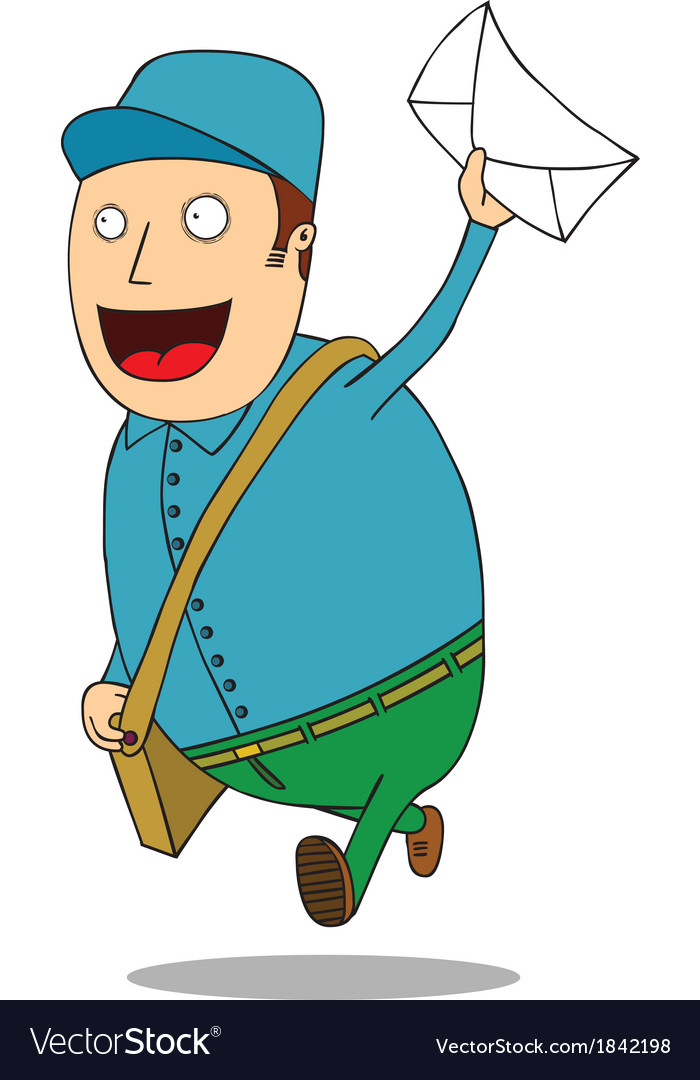 Mailman with letter vector | Price: 1 Credit (USD $1)
