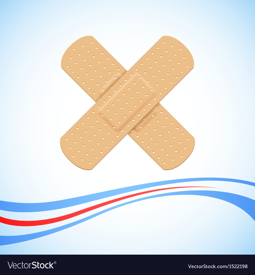 Medical bandage cross vector | Price: 1 Credit (USD $1)