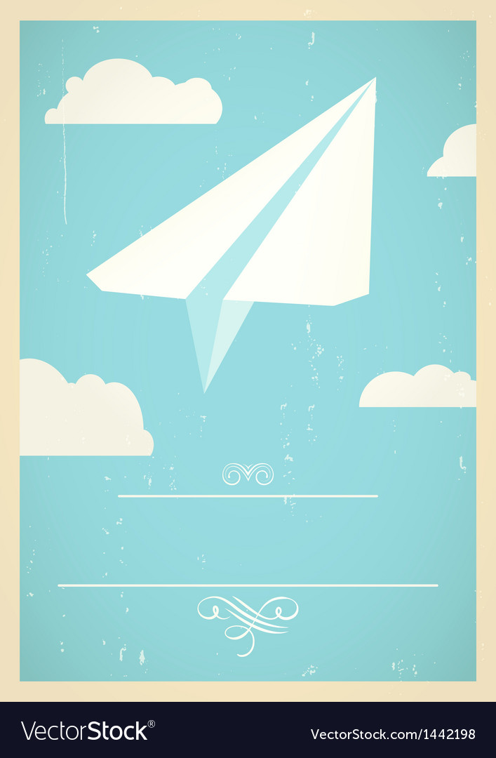 Paper plane concept vector | Price: 1 Credit (USD $1)
