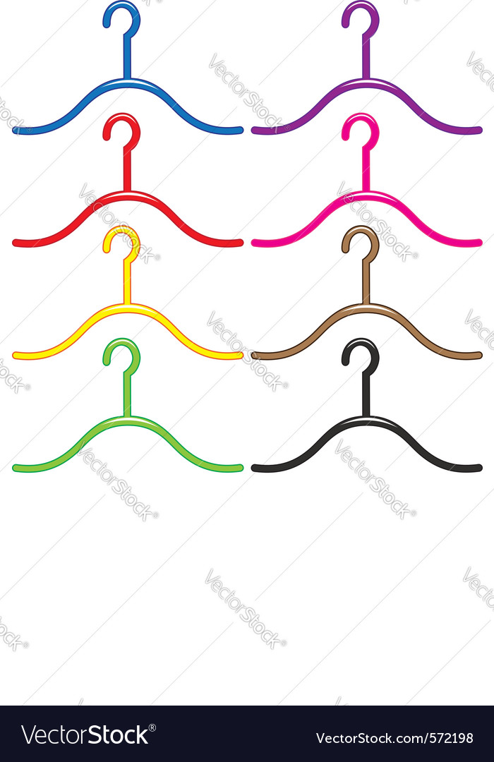 Set of colourful hangers vector | Price: 1 Credit (USD $1)