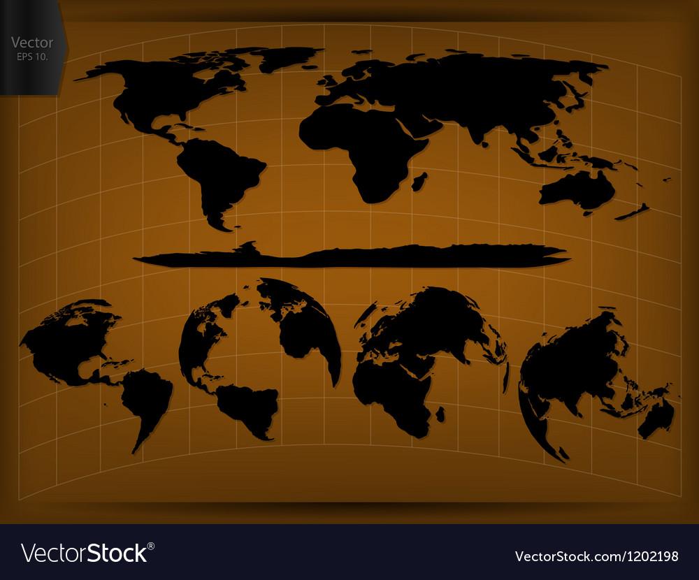 World map glone infographic vector | Price: 1 Credit (USD $1)