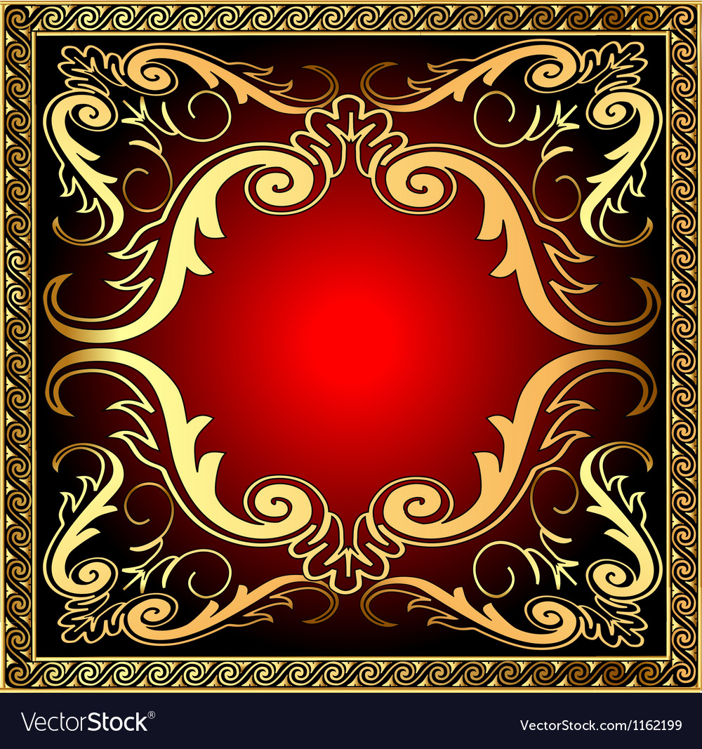 Background with frame and royal golden vector   Price: 1 Credit (USD $1)