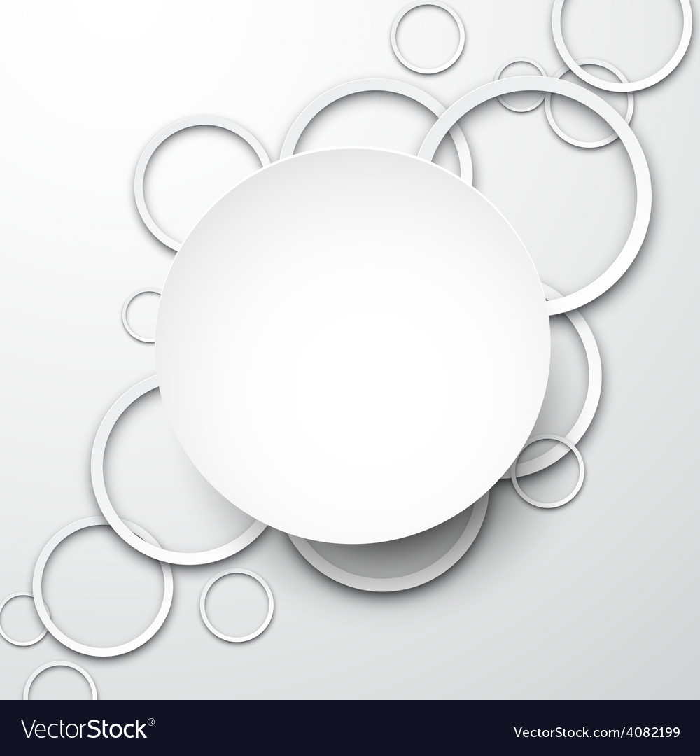 Background with paper white circles vector   Price: 1 Credit (USD $1)