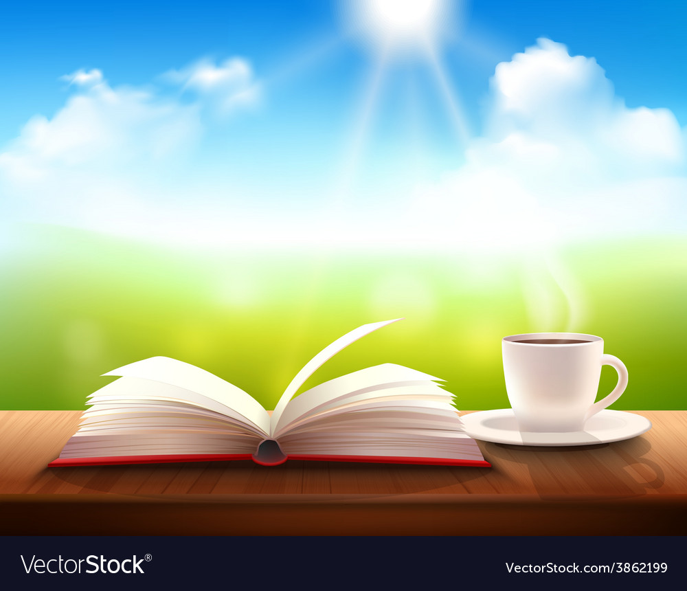 Coffee and book vector | Price: 1 Credit (USD $1)