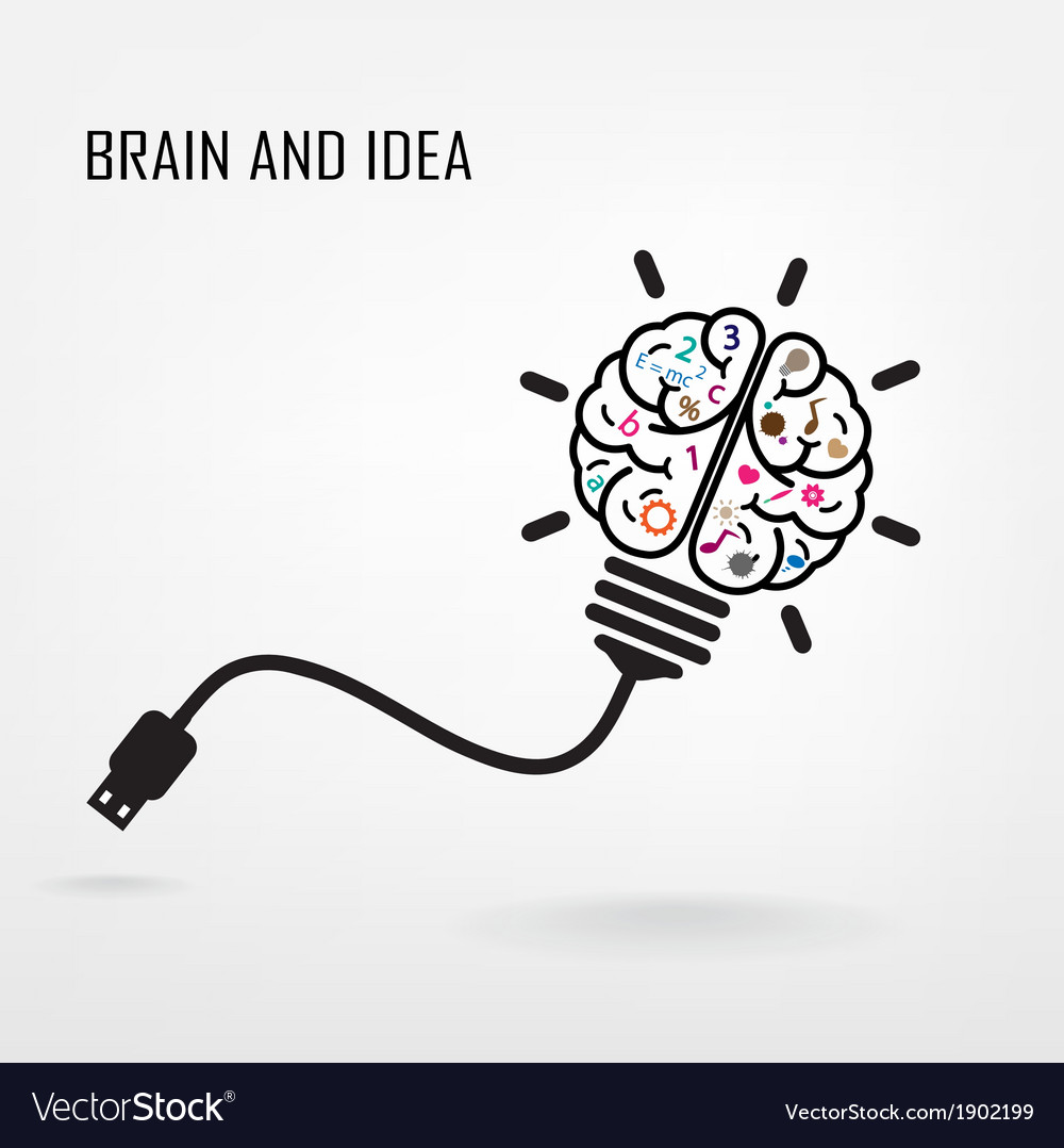 Creative brain idea sign vector | Price: 1 Credit (USD $1)