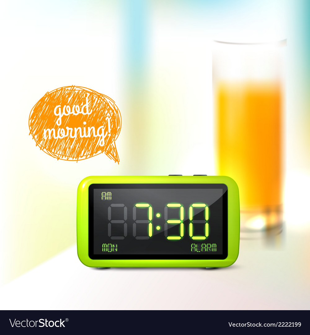 Digital alarm clock background vector | Price: 1 Credit (USD $1)