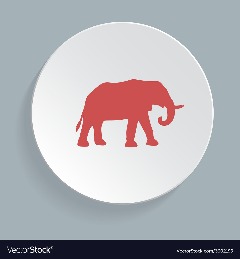 Elephant symbol - vector | Price: 1 Credit (USD $1)