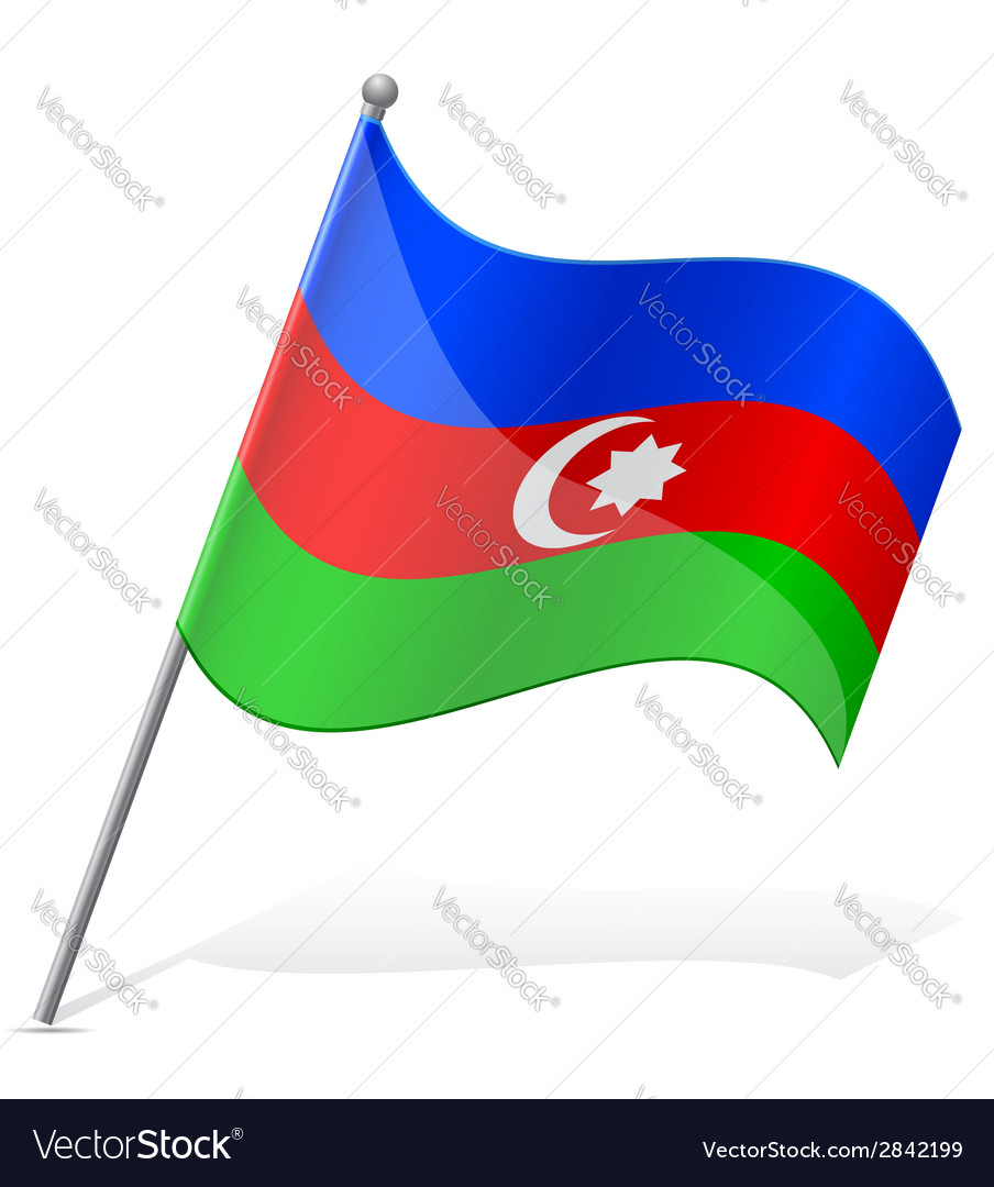 Flag of azerbaijan vector | Price: 1 Credit (USD $1)