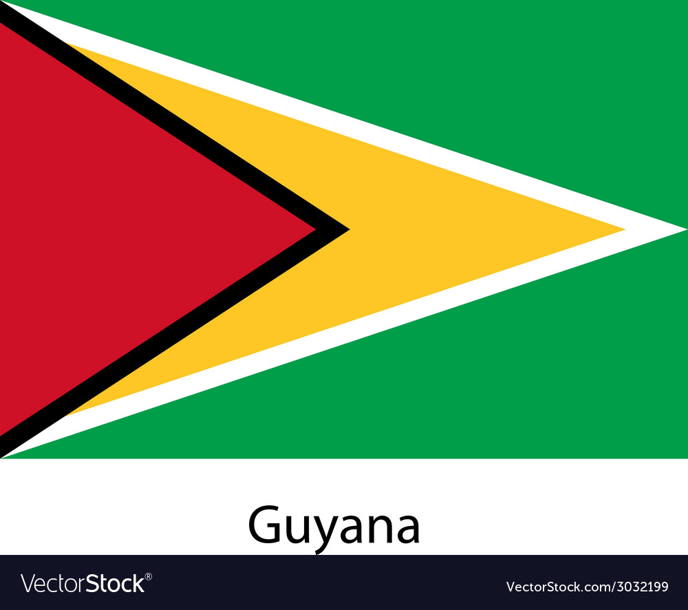 Flag of the country guyana vector | Price: 1 Credit (USD $1)