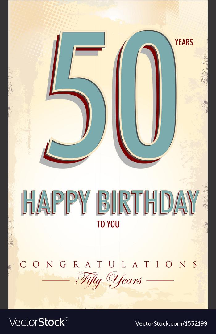 Happy birthday retro background vector | Price: 1 Credit (USD $1)