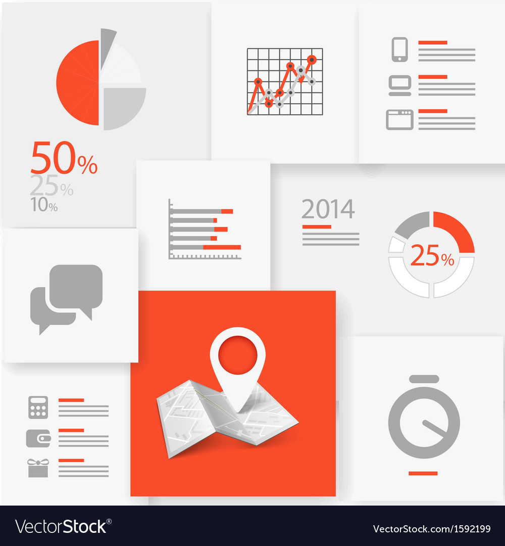 Infographic information board vector | Price: 1 Credit (USD $1)
