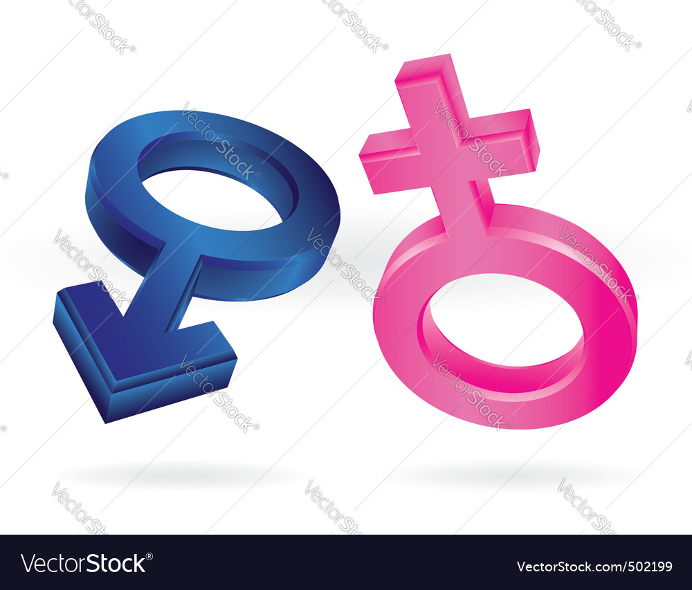 Male and female symbols vector | Price: 3 Credit (USD $3)