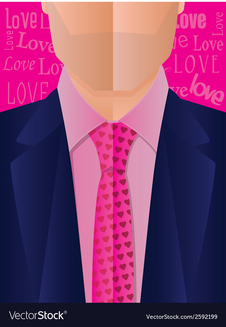 Valentines day suit and tie vector | Price: 1 Credit (USD $1)