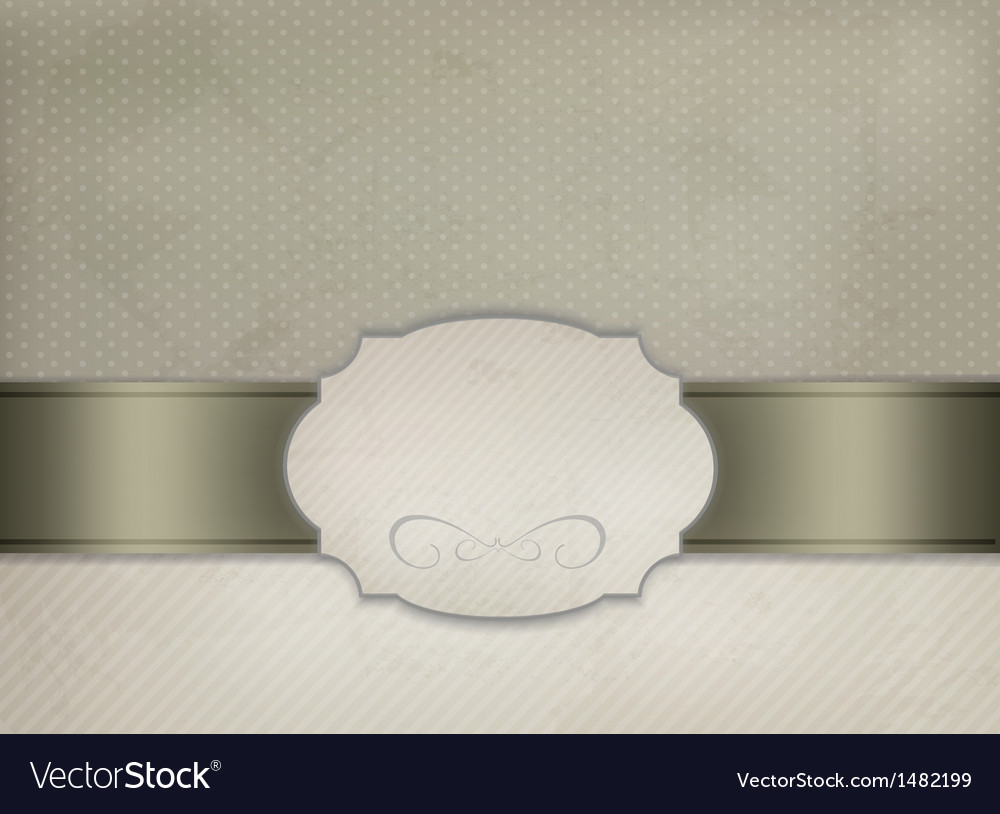 Vintage background with ornament frame vector | Price: 1 Credit (USD $1)