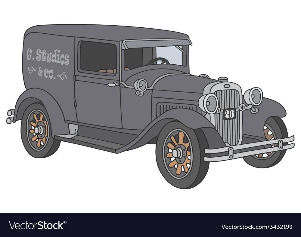 Vintage van vector | Price: 1 Credit (USD $1)