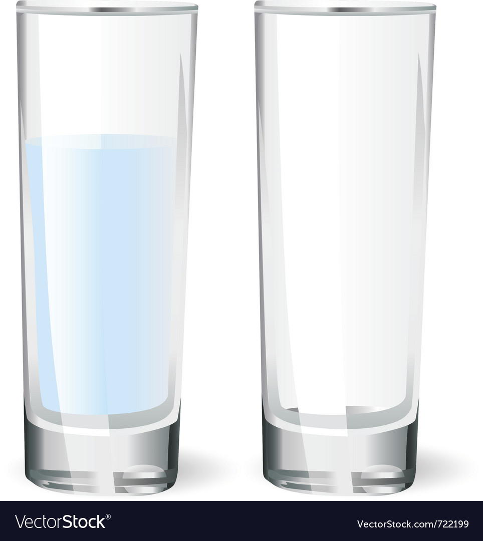 Water glasses vector | Price: 1 Credit (USD $1)