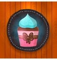 Cupcake with chocolate and mint cream vector