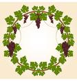 Grape round frame vector