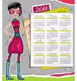 2011 calendar vector