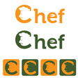 Chef and web icons set design template vector