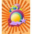 Discotheque rainbow vector