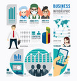Infographic business job template design concept vector