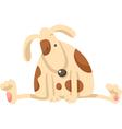 Cute puppy dog cartoon vector