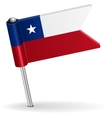 Chilean pin icon flag vector