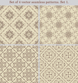 Set of 4 vintage seamless patternsset 1 vector