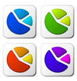 Color pie chart icons vector