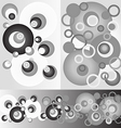 Pattern circles round monochrome background vector