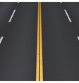 Asphalt highway perspective view vector