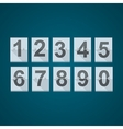 Set of numbers for mechanical scoreboard vector