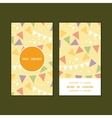 Party decorations bunting vertical round frame vector