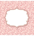 Cute pink frame vector