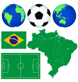 Map and soccer icons vector