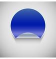 Round blue sticker vector