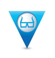 3d cinema glasses icon pointer blue vector