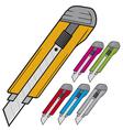 Cutter knife vector