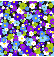 Seamless background with daisies vector