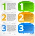 Torn paper progress option labels vector