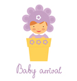 Baby arrival baby in pot vector