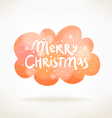 Merry christmas colorful cloud card vector