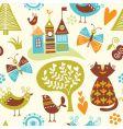 Fairytale pattern vector