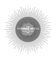 Vintage style star burst retro element for your vector