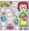 School doodle icons vector