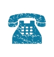 Grunge old phone icon vector