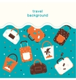 Summertime vacations and traveling background vector
