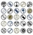 Repair instruments collection 3d tools vector
