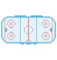 Pixel art hockey stadium playground ice court vector